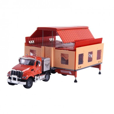 KAIDIWEI 663003 1:50 Double-Room Car Alloy Model Toys New Alloy Engineering Car With Box Packaging