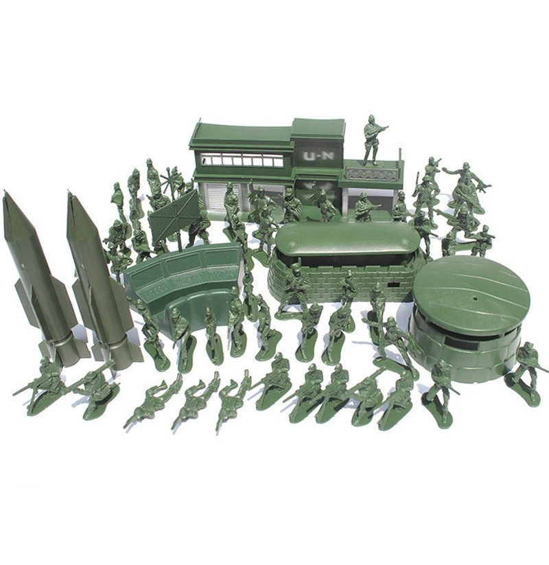 56PCS 5CM Military Soldiers Set Kit Figures Accessories Model For Kids Children Christmas Gift Toys фото