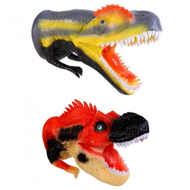 Dinosaur Hand Puppet Realistic Museum Details Jurassic Play Diecast Model Decor Toys Collection