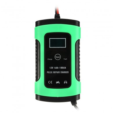 iMars™ EU Plug 12V 6A Pulse Repair LCD Battery Charger For Car Motorcycle Lead Acid Battery Agm Gel Wet