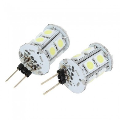 Base de dc12v 3w g4 13 smd 5050 LED bulbos leves brancos quentes