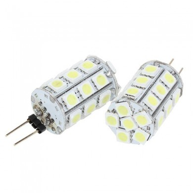G4 6.5W 5050 SMD 27 LED luz branca quente LED bulbos