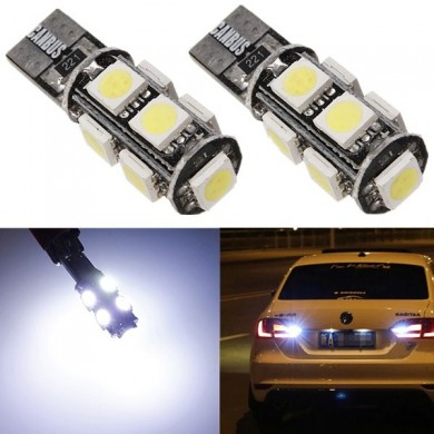 Canbus Error Free T10 194 1.5W Turn Tail led 9-5050 smd W204 White