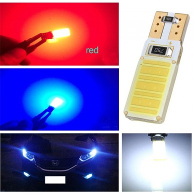 T10 W5W 194 168 Canbus COB LED Lamp Car Parking Backup Side Marker Light Bulb DC12V
