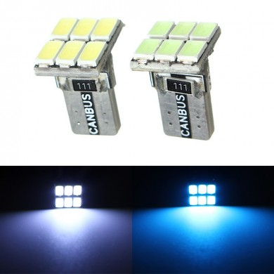 T10 Canbus Error Free LED Side Maker Light Car Wedge Lamp Bulb 5730 6SMD