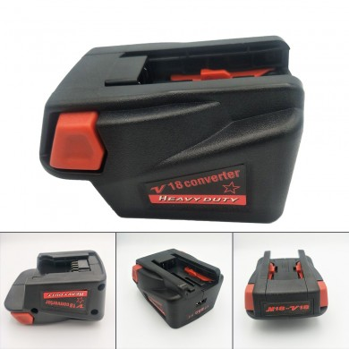 Adaptateur convertisseur pour Milwaukee M18 18V Li-ion Batterie en Milwaukee V18 Batterie