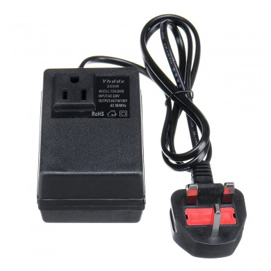 Convertisseur de tension 220V à 110V Adaptateur de transformateur 200W / 300W Step Down Travel UK Plug