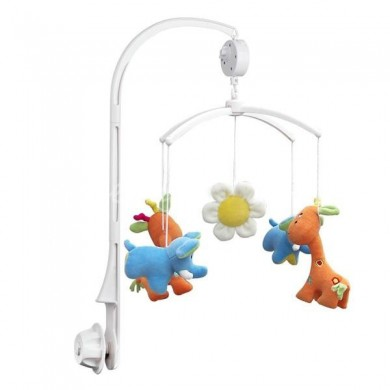 Baby Crib Mobile Bed Bell Toy Holder Arm Bracket and Wind Up Music Box