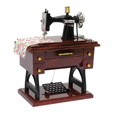 Vintage Mini Sewing Machine Mechanical Music Box Birthday Gift