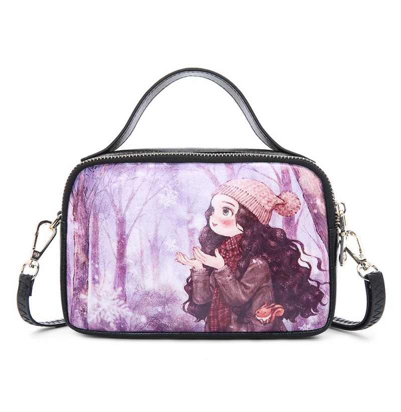 Women Print Handbag Leisure Cartoon Crossbody Bag (Color: 5) фото