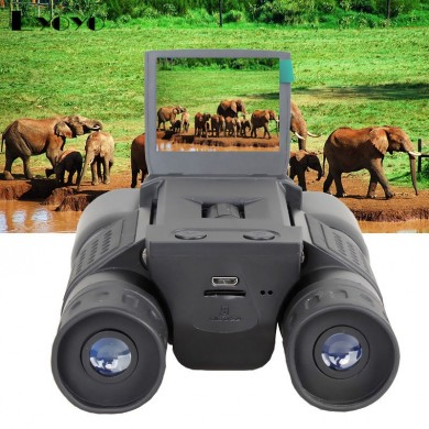 IPRee 12x32 Digital Video fotografica Binoculare HD Telescopio 1280X720 da guardia d'uccello