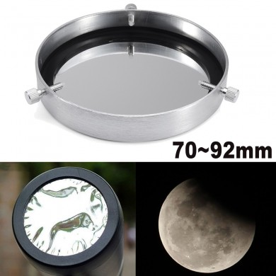 Silver 70-92mm Solar Filter Baader Film Metal Cover For Astronomical Telescope