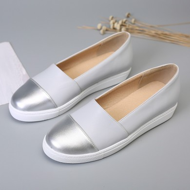 Women Casual Pure Color Stitching Flats