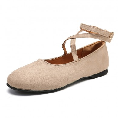 Mulheres Comfy Dancing Single Ankle Buckle Flats