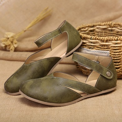 Women Comfy Buckle Hollow Out Elegant Flats