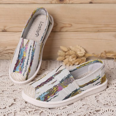 Women Casual Printing Pattern Cloth Flats