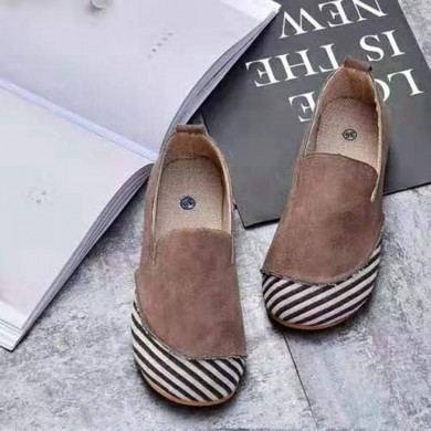 Women Casual Suede Stitching Slip On Flats