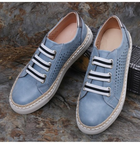 Women Casual Hand Weave Hollow Out Breathable Loafers