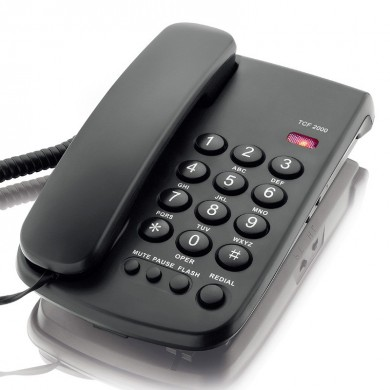 DAERXIN TCF-2000 Desktop Corded Landline Phone Fixed Telephone Mute/Pause/Flash/Redial for Home Office Hotels
