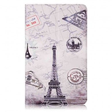 Iron Tower Painting Tablet Case for 8 Inch Xiaomi Mipad 4