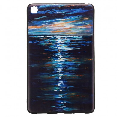 Custodia tablet con cover posteriore in TPU per XIAOMI Mipad 4 - Sunset Version