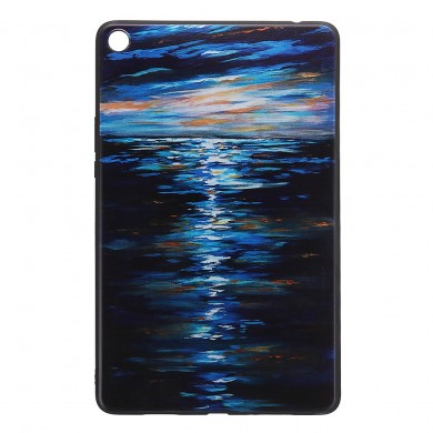Custodia per tablet con cover posteriore in TPU per XIAOMI Mipad 4 Plus - Sunset Version