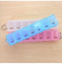 Portable Pill Box Splitter 7 days Travel Medicine Tablet Box Pills Dispenser Organizer Holder Travel plastic storages
