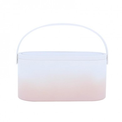 MUID  Cosmetic Bag Dressing Case Portable Travel Dresser Cosmetic Mirror Lamp Fixing Makeup Lipstick Skin Care Product Storage B