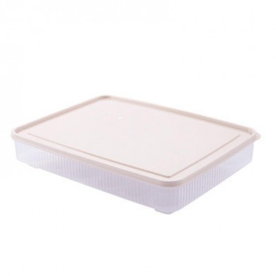 Kitchen 24 Grids Egg Box Refrigerator Preservation Portable Picnic Egg Storage Box Baskets Food Grade Plastic Egg Box With Cover