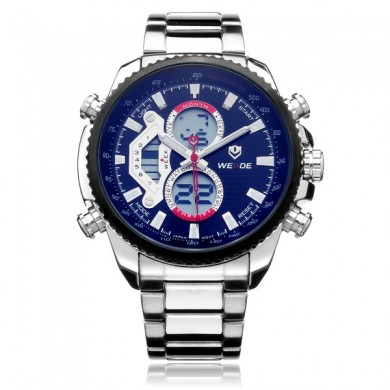 Weide WH3410 Multifunction Week 24h Date Men Stainless Steel Watch