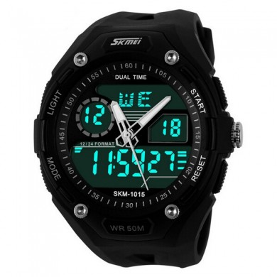 SKMEI 1015 Digital Analog Waterproof Quartz Sport Watch
