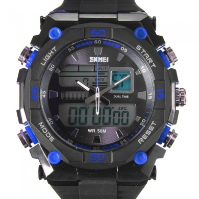 SKMEI AD1092 LED Analog Digital Luminous Men Sport Wrist Watch