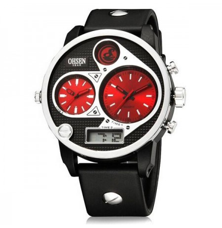 OHSEN AD2806 Analog Digital Double Display Men Wrist Watch