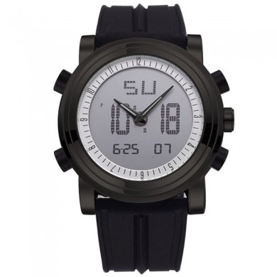 SINOBI 9368 Fashion Men Sport Watch Dual Display Multifunction Silicone Band Digital Analog Watch