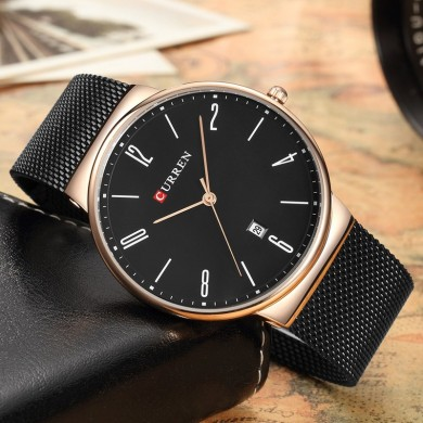 CURREN 8257 Ultra Thin Casual Design Quartz Watch