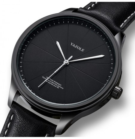 YAZOLE 503 Simple Segmentation Dial Men Quartz Watch