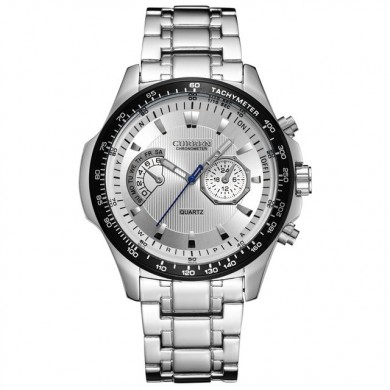 CURREN 8020 Stainless Steel Band Casual Style Quartz Watch