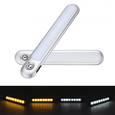 1.6W PIR Motion & Light Sensor Touch Control White / Warm White LED Cabinet Light with Magnet