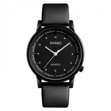 SKMEI 1210 Fashion Watch Simple Style Leather Strap Casual Unisex Quartz Analog Wrist Watch