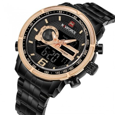 NAVIFORCE NF9119 Luxury Dual Display Orologio da uomo