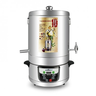 220V 4000mL Alcohol Distiller Moonshine Ethanol Copper Still 304 Stainless Boiler Home Brewing