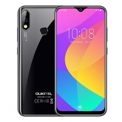 OUKITEL Y4800 6.3 inch Full Screen 4000mAh 48MP Dual Camera 6GB 128GB Helio P70 Octa Core 4G Smartphone