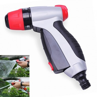 Zinc Alloy Adjustable Garden Hose Push Button Spray Nozzle