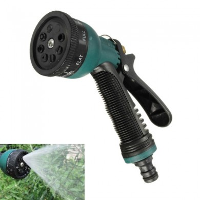 8 Spraying Functions Adjustable Sprayer Gardening Plant Watering Spray Nozzle with Connectors