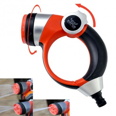 7 Spraying Function Handle Push Adjustable Spray Nozzle Garden High Pressure Watering Sprayer