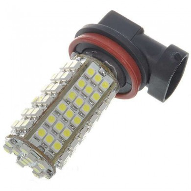 1PCS New H11 5W 102-SMD LED 6500K 450-Lumen White Fog Lights for Car