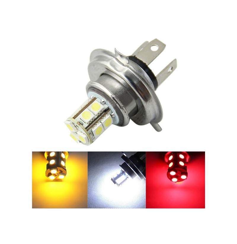 H4 5050 13SMD Car White Yellow Red LED Fog Daytime Running Light Bulb (Color: Red) фото