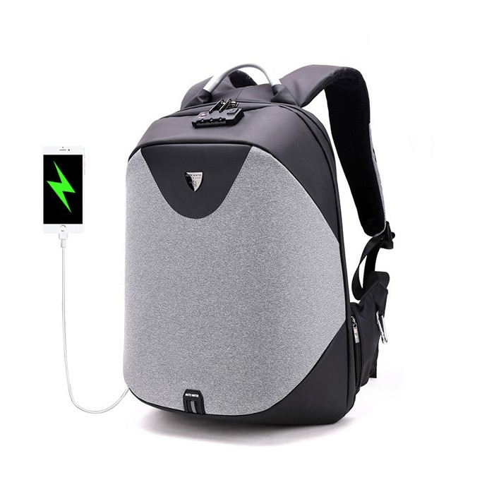 Men Antitheft Backpack with Costoms Lock & USB Charging Port