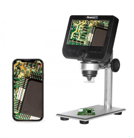 MUSTOOL G610 WIFI 2MP 4.3inch LCD Microscope Support IOS Android System Built-in Rechargeable Battery & 8 Adjustable Leds with M