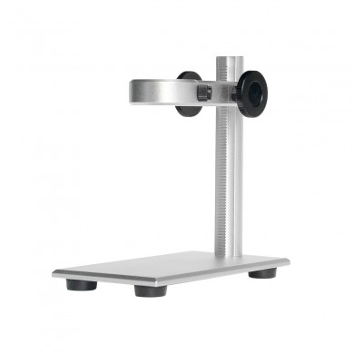 Y01 Silver Microscope Metal Bracket Aluminum Alloy Stand Bracket Holder for Digital Microscope Diameter: 23mm-35mm